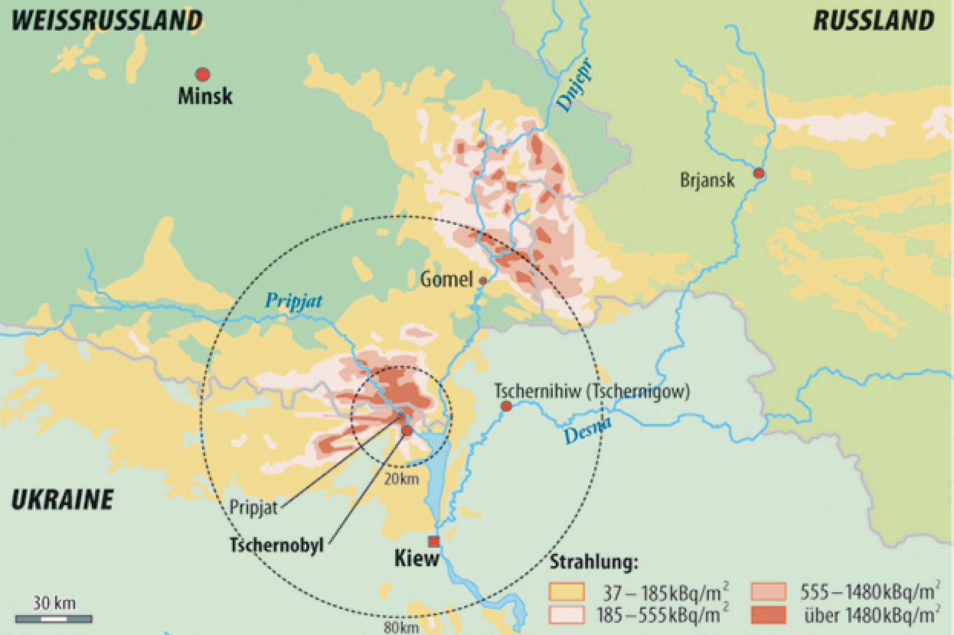 Tschernobyl Karte.Tschernobyl Hochbetrieb Im Sperrgebiet