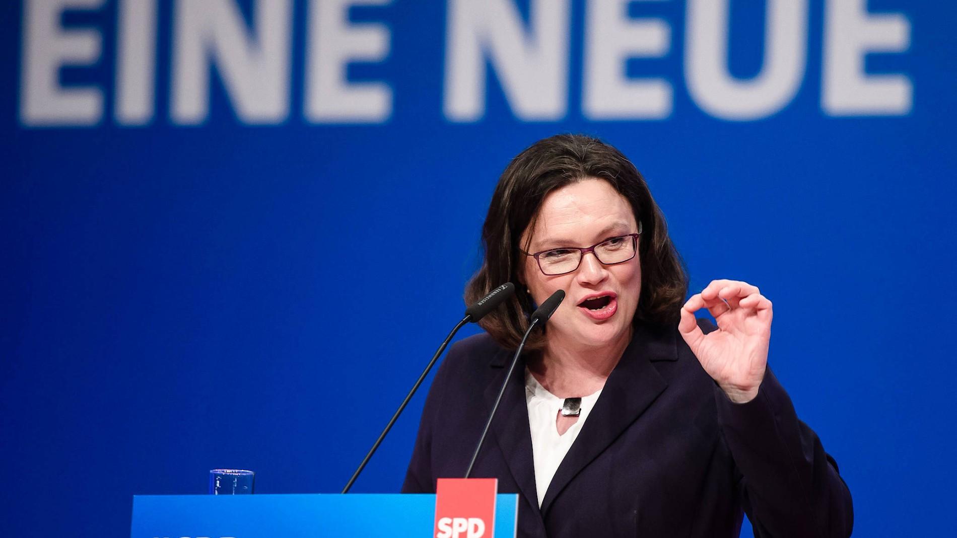 Nahles Mit Zweitschlechtestem Ergebnis Zur Ersten SPD Chefin Gewählt