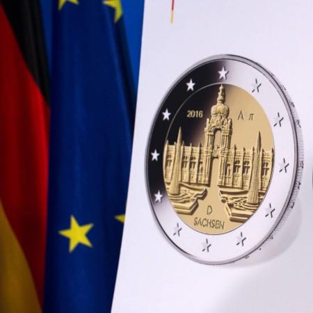 Sachsen Bundeskanzlerin Merkel Präsentiert 2 Euro Gedenkmünze 2016