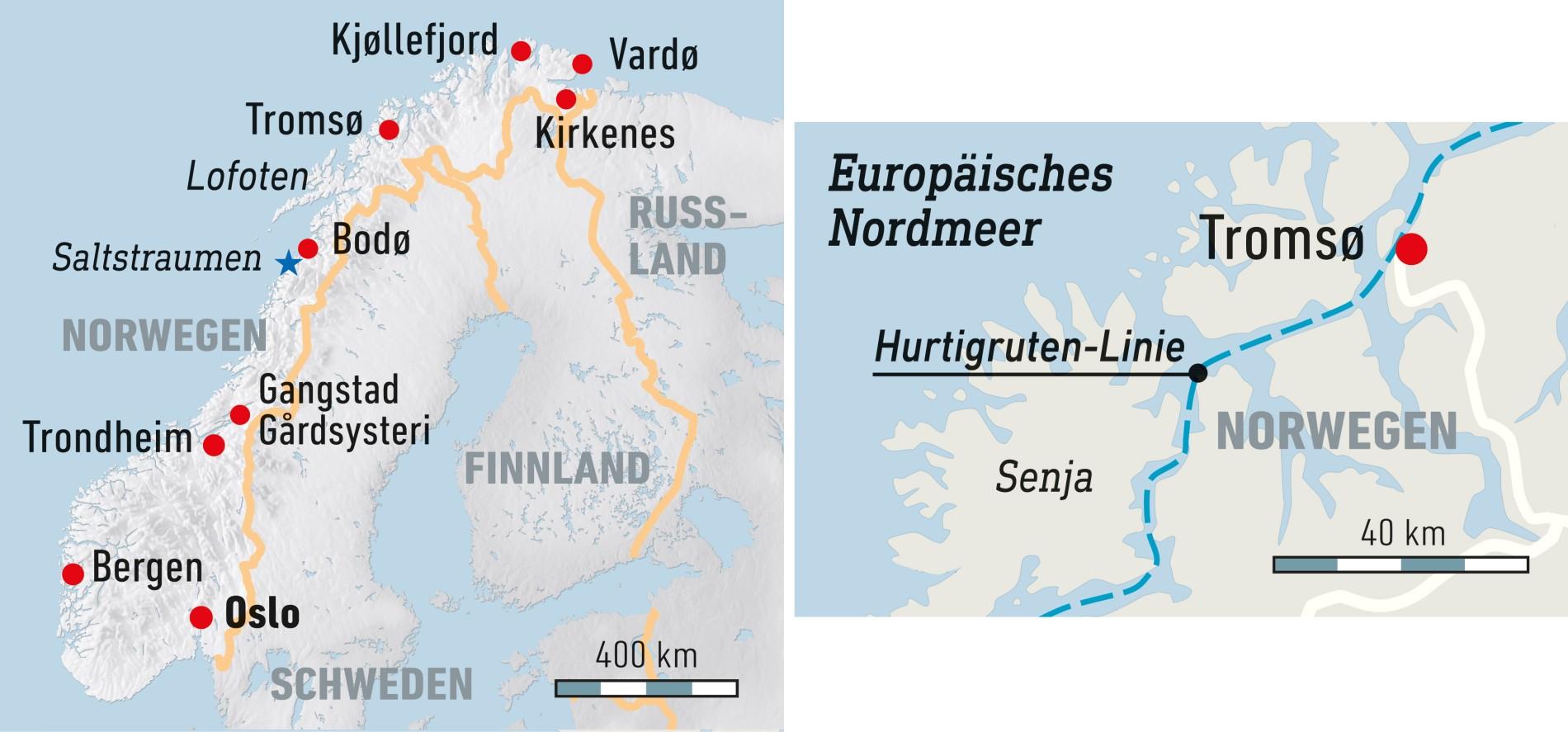 Karte Norwegen Hurtigruten.Reise Nach Norwegen Neue Einblicke Auf Der Hurtigruten Strecke
