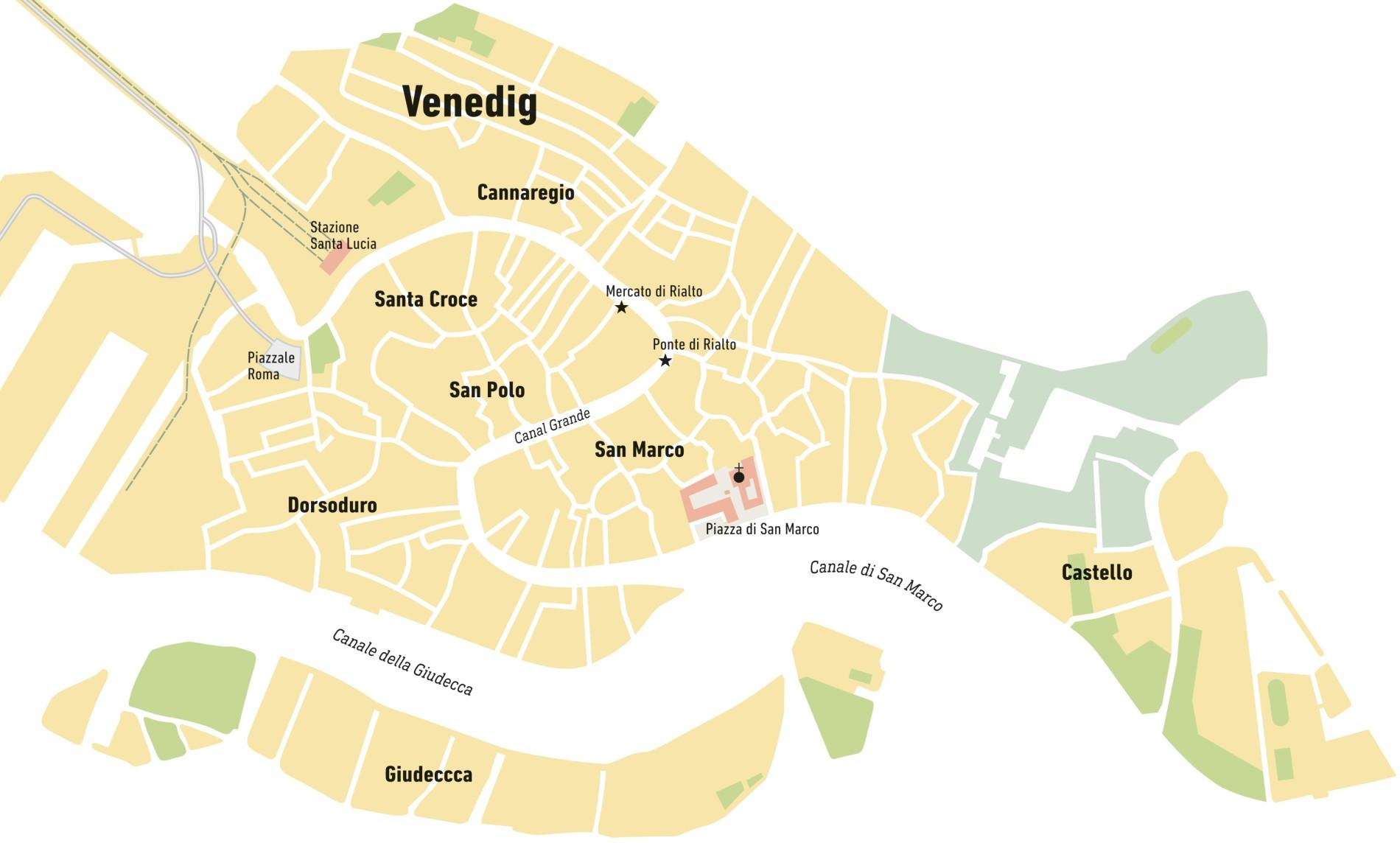 Venedig Karte.Karte Die Besten Happen Von Venedig