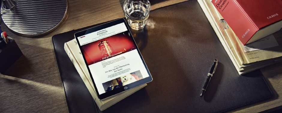 F.A.Z. Einspruch – das neue Digitalmagazin für Juristen.