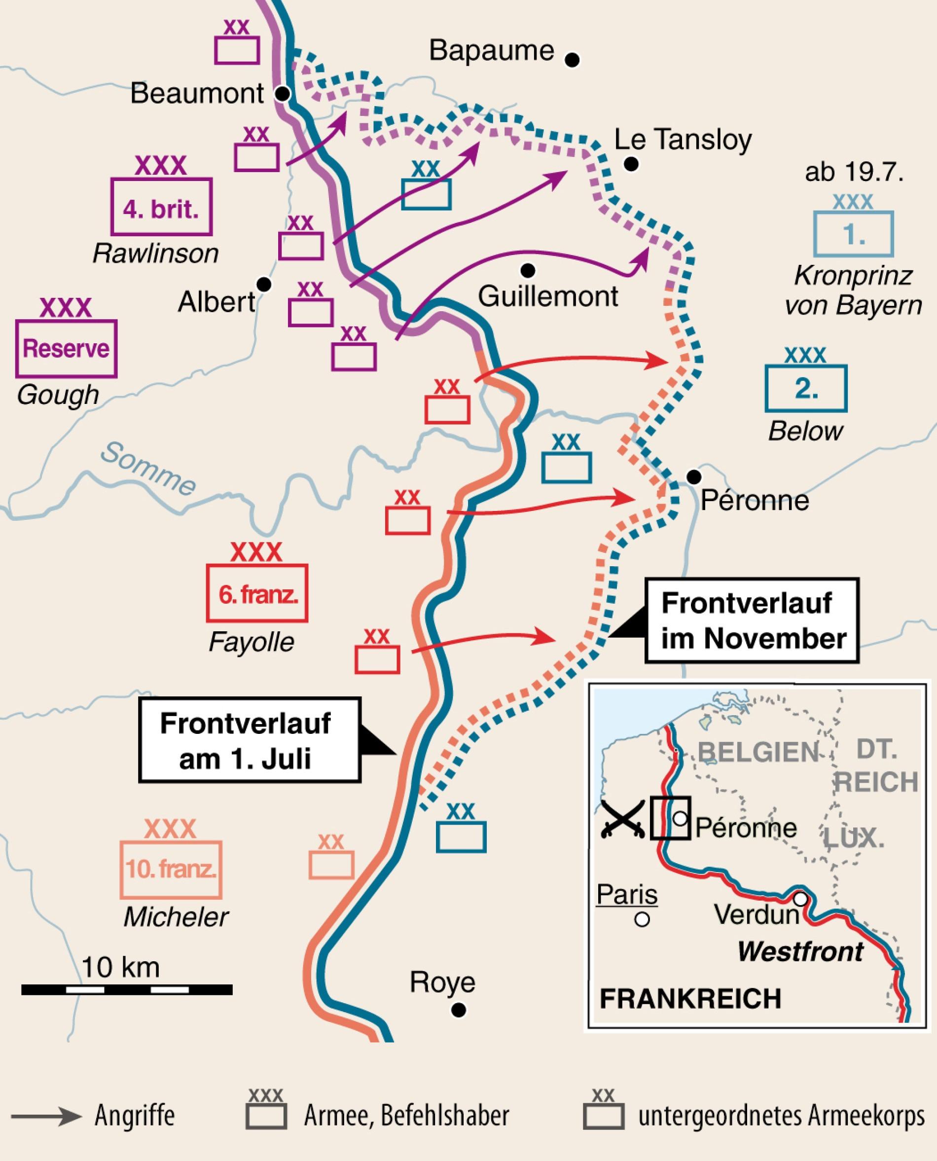 Westfront 1 Weltkrieg Karte.Erster Weltkrieg Der Blutsommer An Der Somme