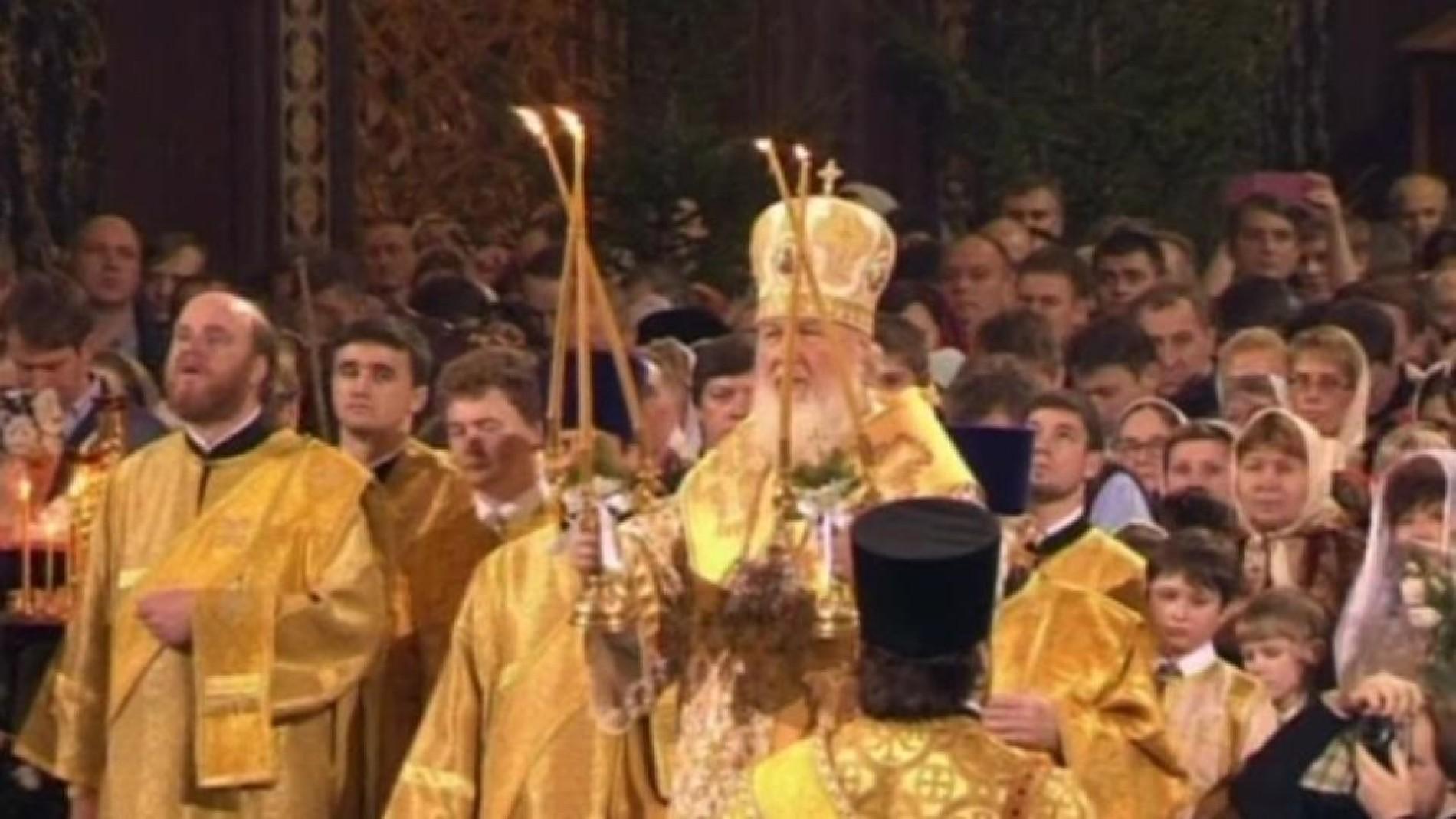 Orthodoxe Weihnachten.Russland Orthodoxe Feiern Weihnachten