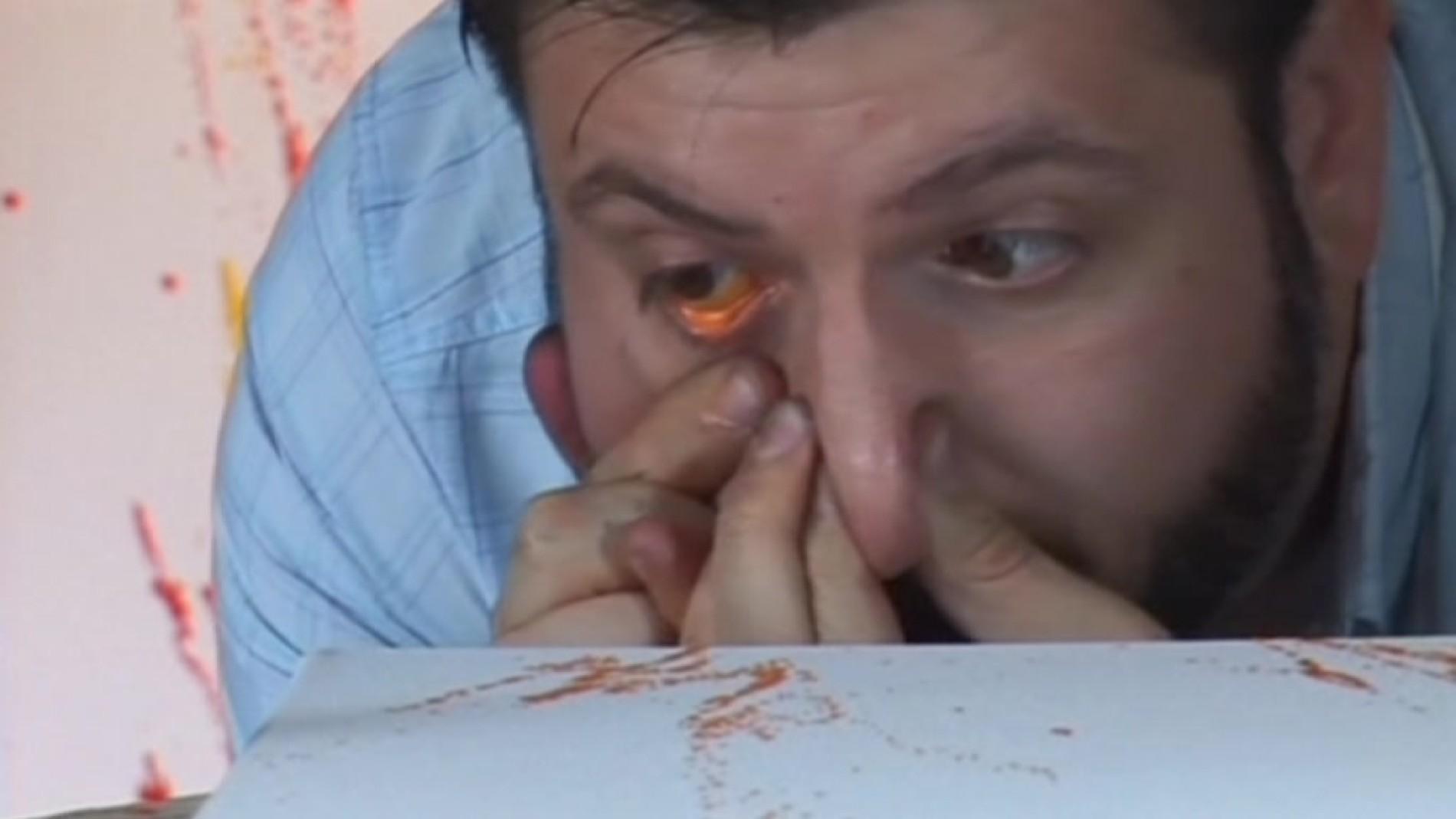 Buenos Aires Argentinischer Künstler Malt Mit Den Augen Menschen