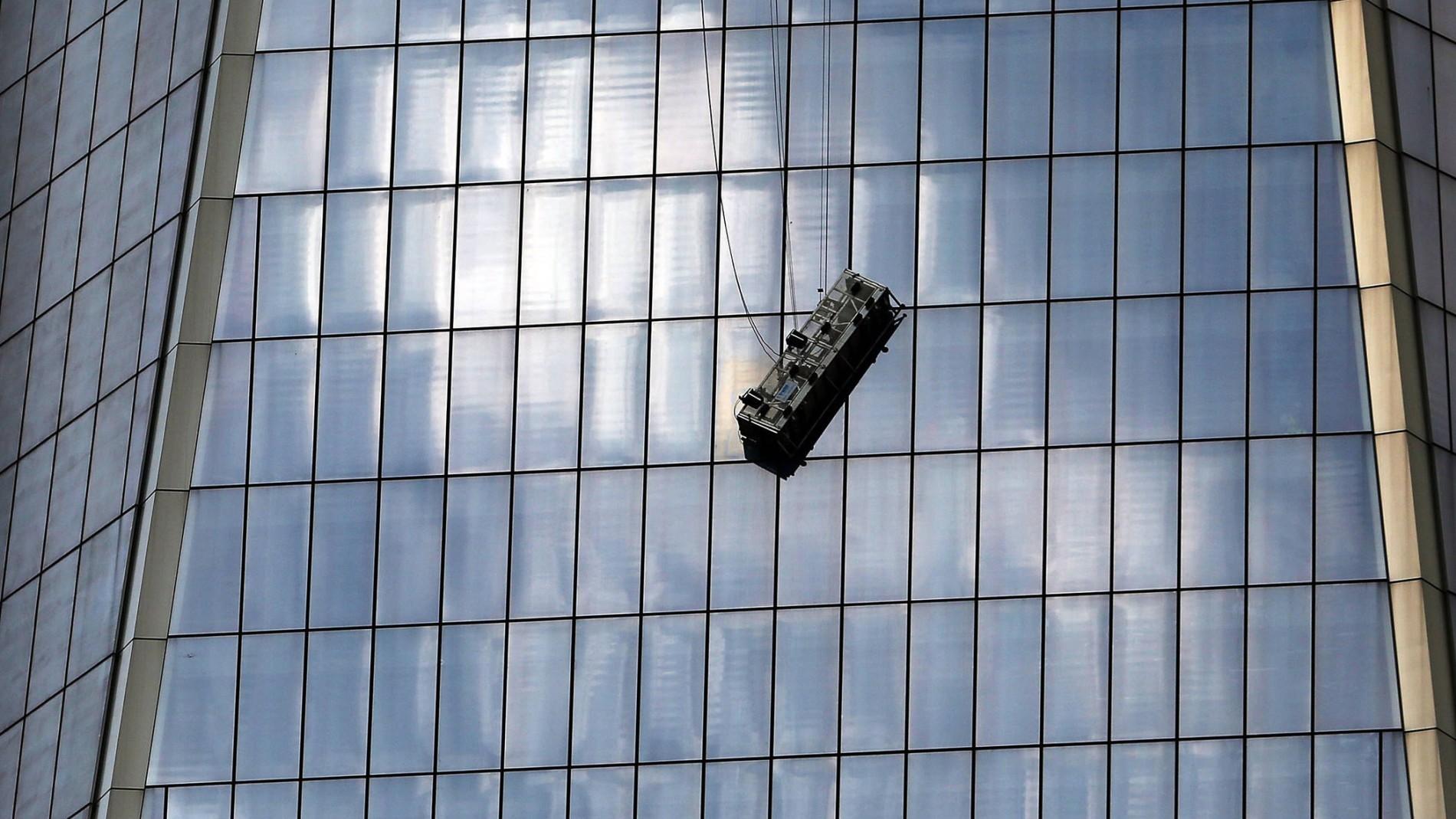 One World Trade Fensterputzer Alarm In 240 Meter Höhe